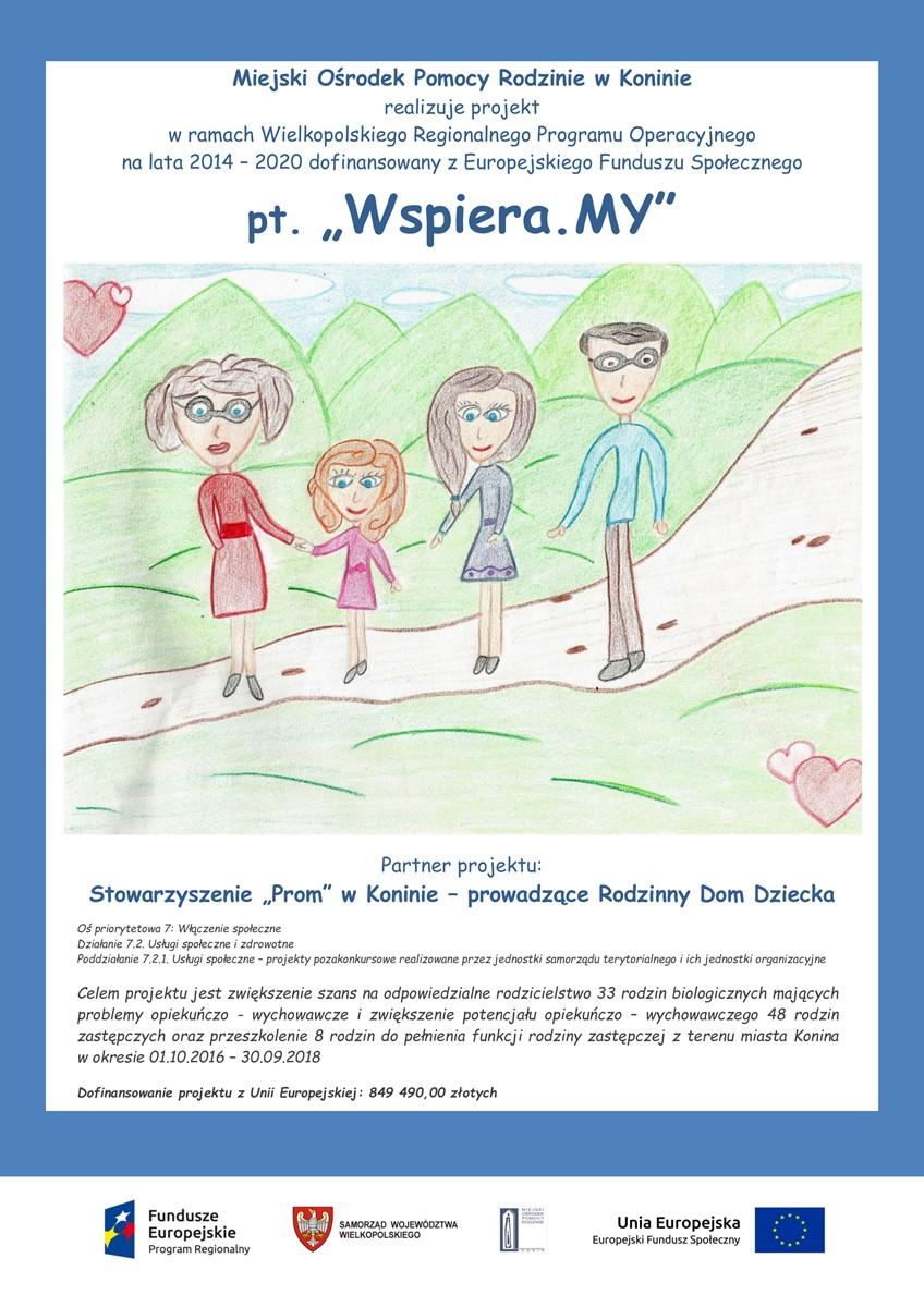 Plakat projektu Wspiera.MY