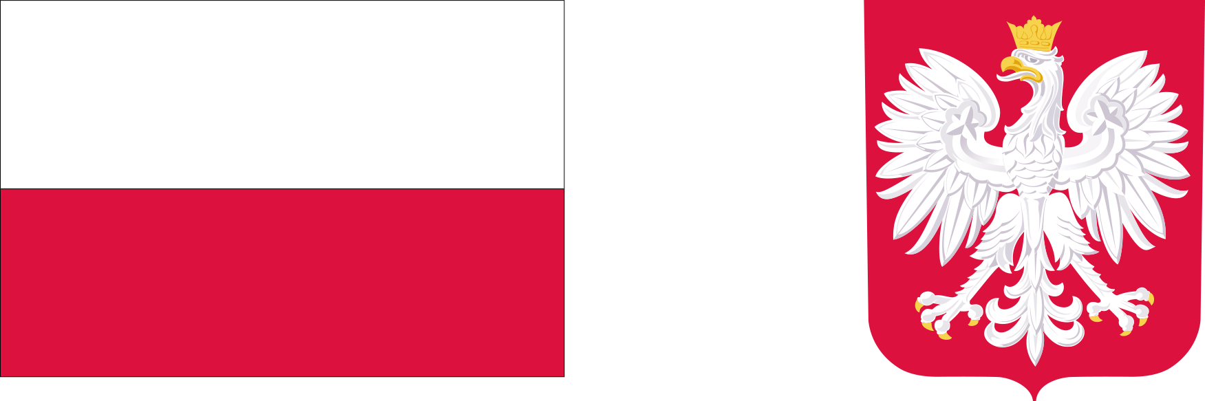 flaga i godło Rzeczypospolitej Polskiej
